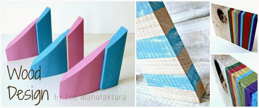 Drewniany design handmade - co można zrobić z kawałków drewna. Eco dekoracje upcycling.