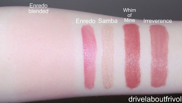 RBR Rouge Bunny Rouge swatch Samba Enredo Whim of Mine Irreverence