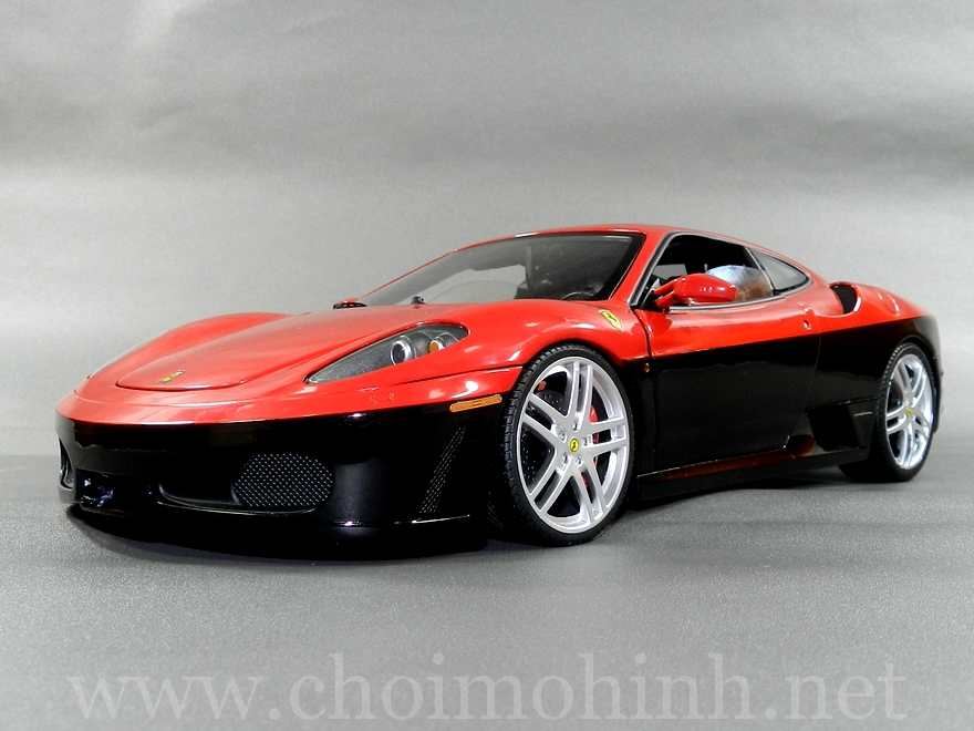 Ferrari F430 Red-Black 1:18 Hot Wheels Elite