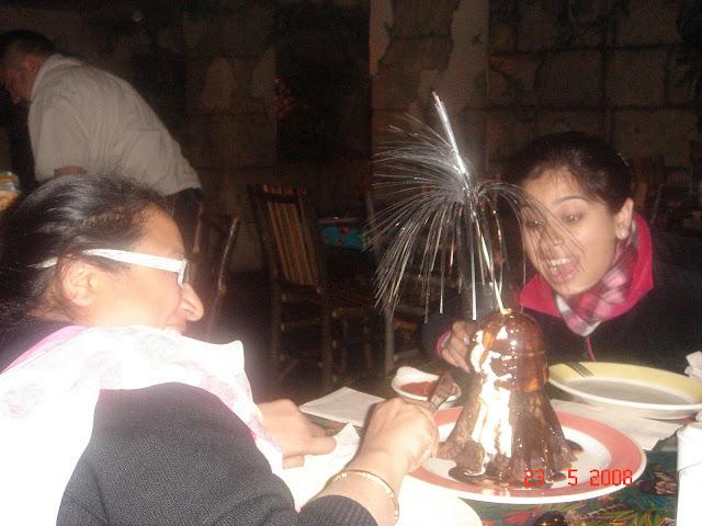 Sparkling Volcano Sundae Dessert