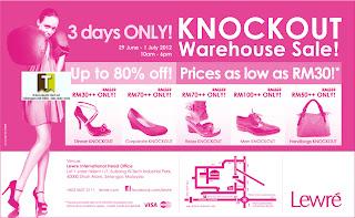 Lewre Knockout Warehouse Sale 2012