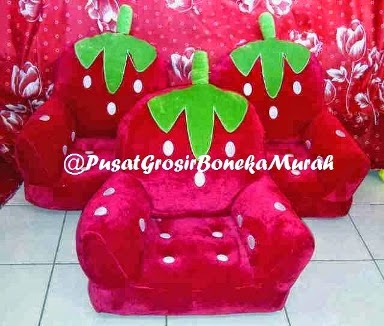 PUSAT GROSIR SOFA HANDLE STRAWBERRY JUMBO