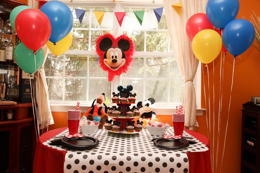 Home Confetti Mickey and Minnie Birthday Party