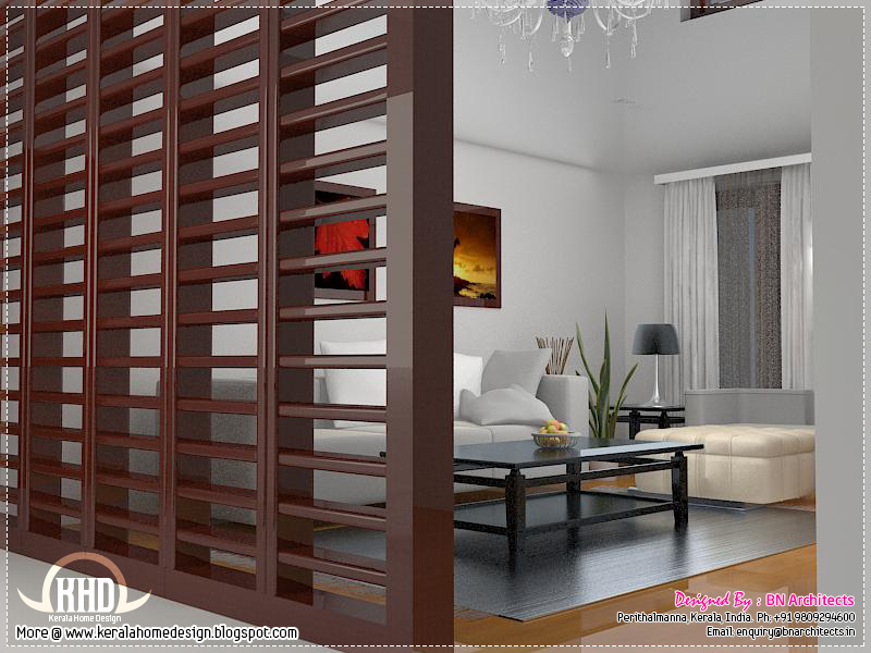 Dining Room Interior Family Living Night View Partition Of