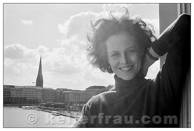 Sigourney Weaver, Hamburg, 1986, photo by Moni Kellermann
