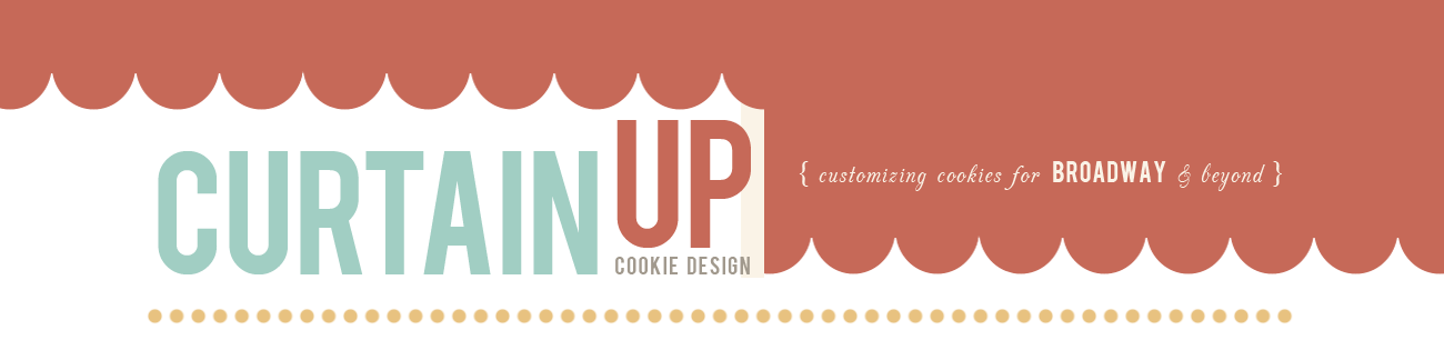 Curtain Up Cookie Design