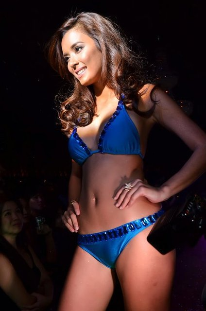 michelle madrigal sexy blue bikini