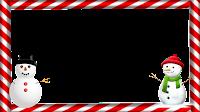 Moldura PNG - Bonecos de neve moldura 4