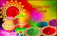 Colorful and prosperous holi greetings