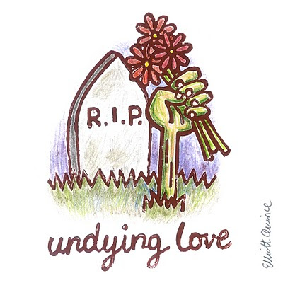 This Romantic Valentine Comes From ~RoscoFink At DeviantArt. I Love The  Hand Drawn Zombie And The Adorable Message.