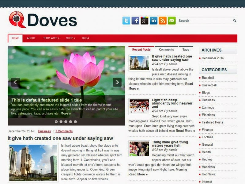 Doves - Free Wordpress Theme