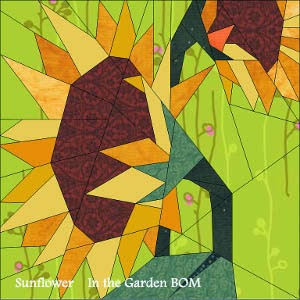 In the Garden BOM Sunflower free pattern