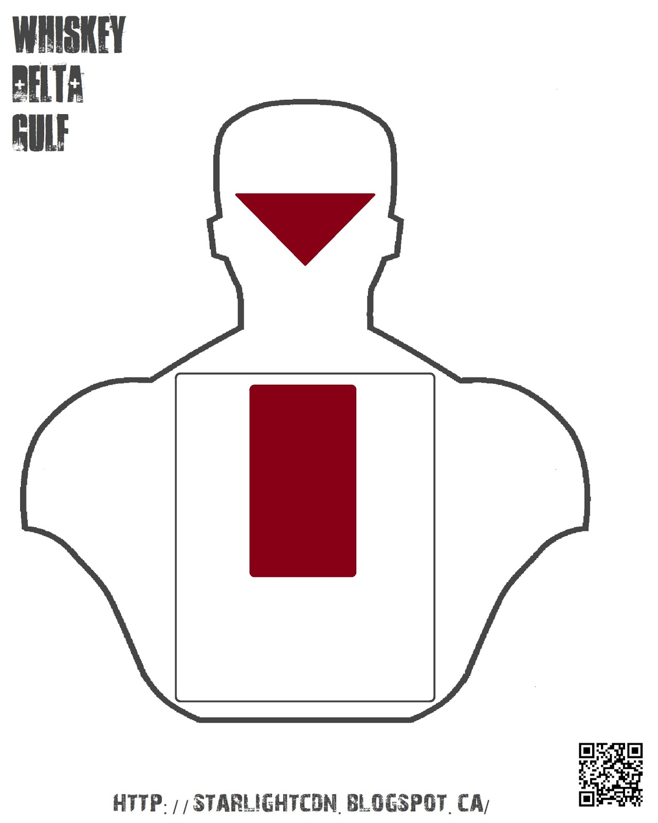 This is a photo of Massif Printable Pistol Drill Targets