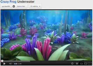Screenshot of Crazy Frog-Underwater video