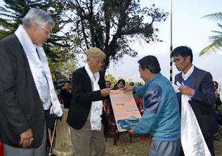 MB Rai felicitated by concept group mungpoo