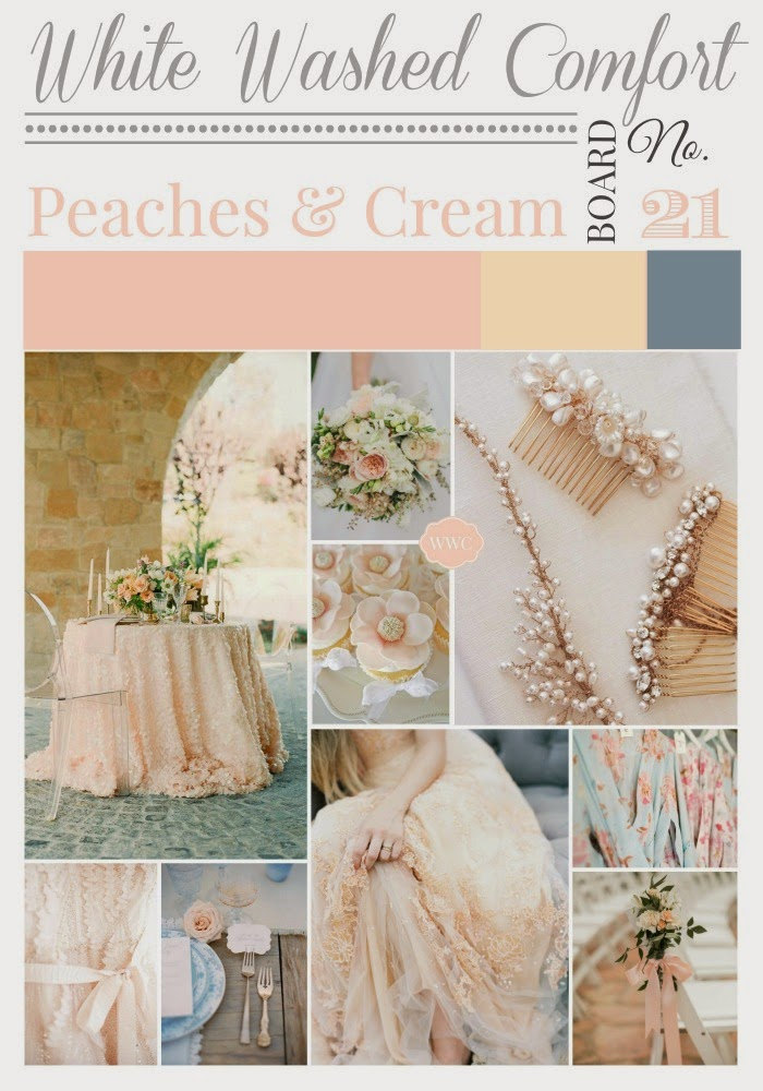 Peaches and Cream Inspiration Board