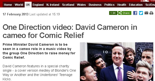 david cameron one direction - photo #22