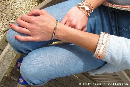Accumulation bracelets Judith Benita multi-chaînes