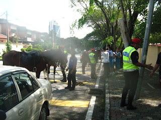 police patrol on horseback in Damansara Utama