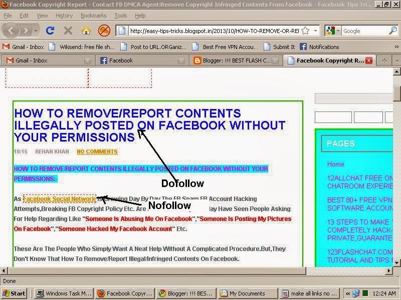 make all external links nofollow in blogger