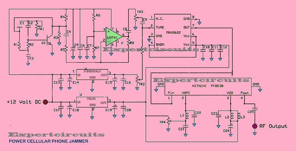 Awe Inspiring Full Power Mobile Phone Jammer Circuit Diagram Wiring Digital Resources Attrlexorcompassionincorg