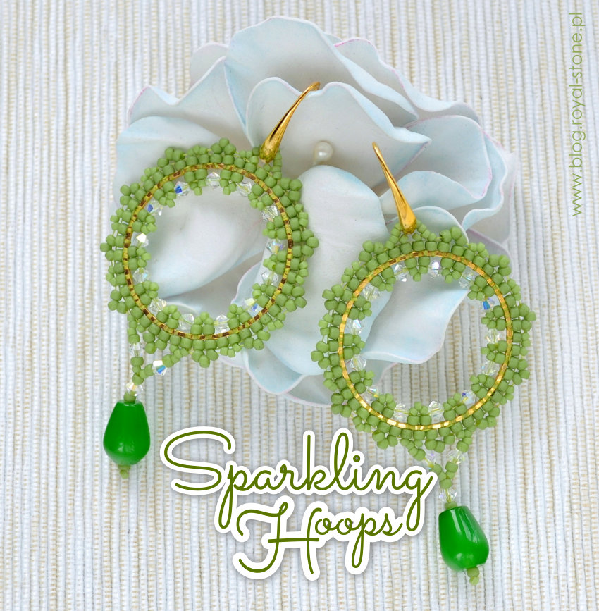 Sparkling hoops - free tutorial