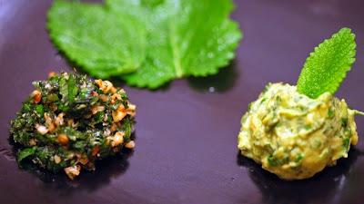 Pesto e guacamole de erva cidreira