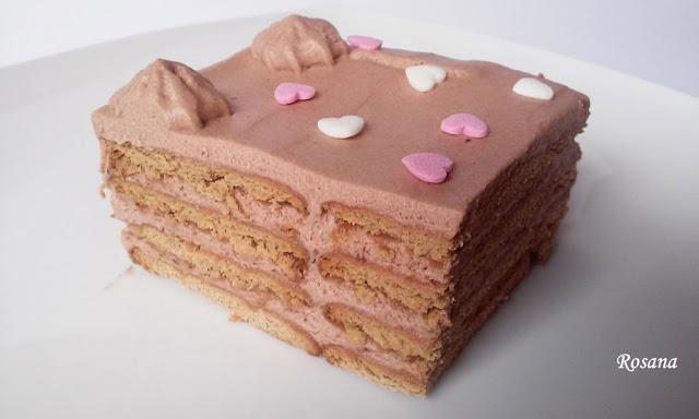 tarta  facil de trufa con galletas
