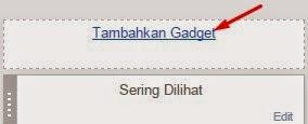 cara menambahkan widget di blogspot
