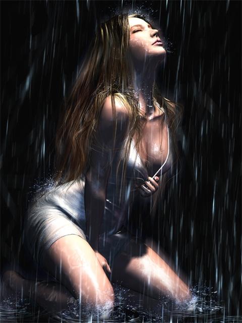 девушка в мокрой фото 240х320