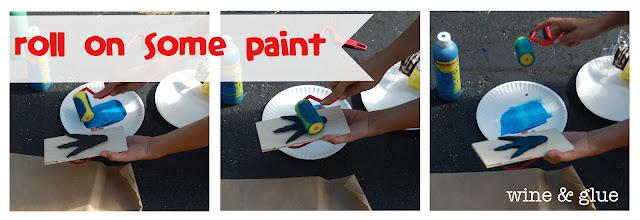 Paint for a flip flop craft