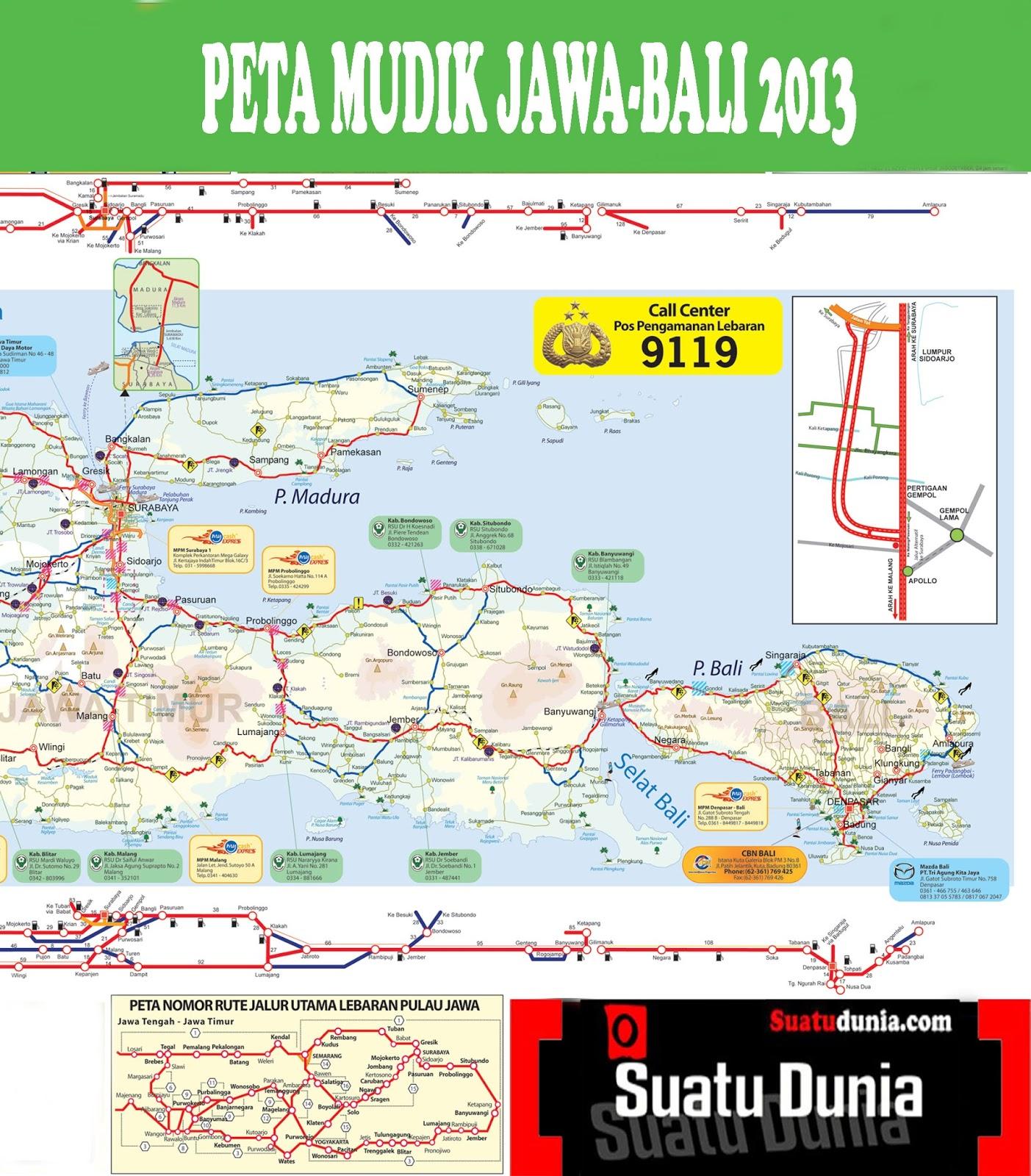 Peta Mudik Jawa Bali 2013