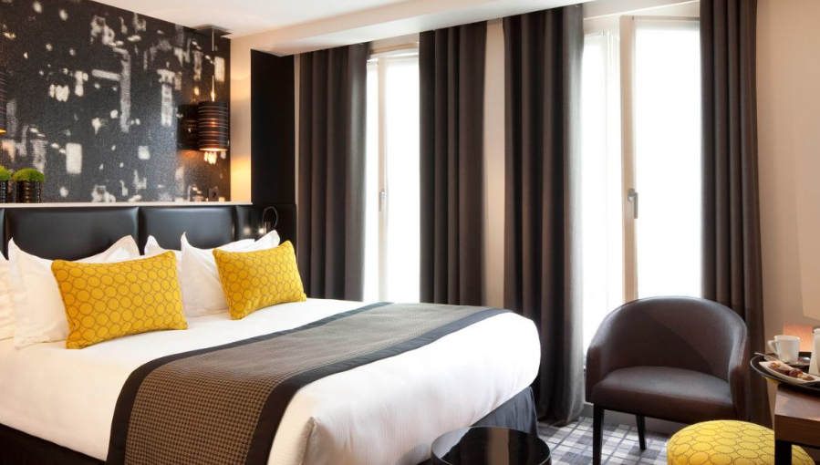 Le grey h tel design et chic for Decoration chambre hotel