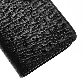 Leather Case Wallet With Credt Card Slot Sony Xperia L S36h C2104 C2105 - Black