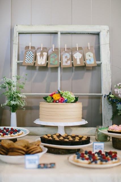 Barn Wedding Cake and Dessert Table Minneapolis