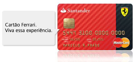 Cartão Ferrari Santander - Fazer, 2 Via