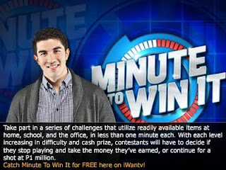 Minute to Win It Pinoy Edition Franchised edition of Shine International's | ABS-CBN Kapamilya Network