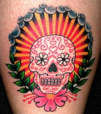 Tatouage tete de mort mexicaine les Top 50 plus incroyables - tatouage de crane mexicain