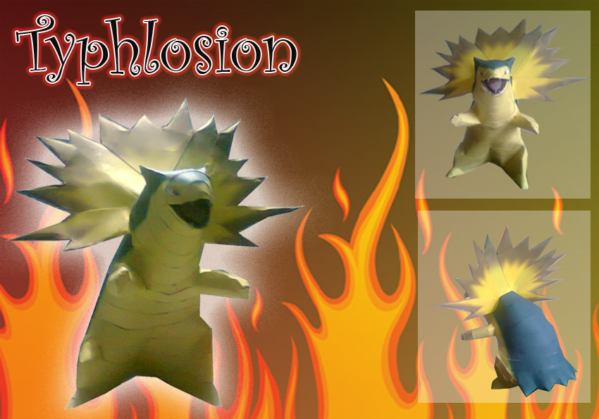 Pokemon Typhlosion Paper Model