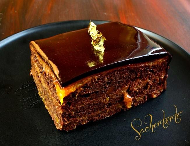 Gateau abricot nappage chocolat