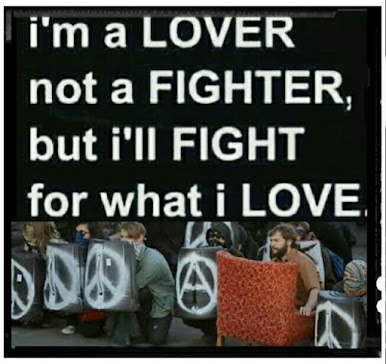 Anarcho Peace punk is not turning the other  cheek, PEACE is the goal of our struggle.