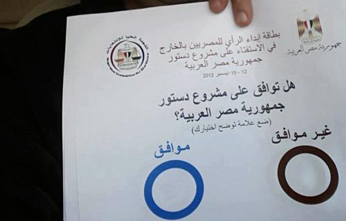 نتيجة استفتاء الدستور المصرى الرسمية 2012 النهائية الحقيقة الاخيرة انتخابات دستور مصر