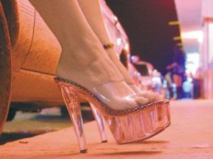 asombroso prostituta callejera baile