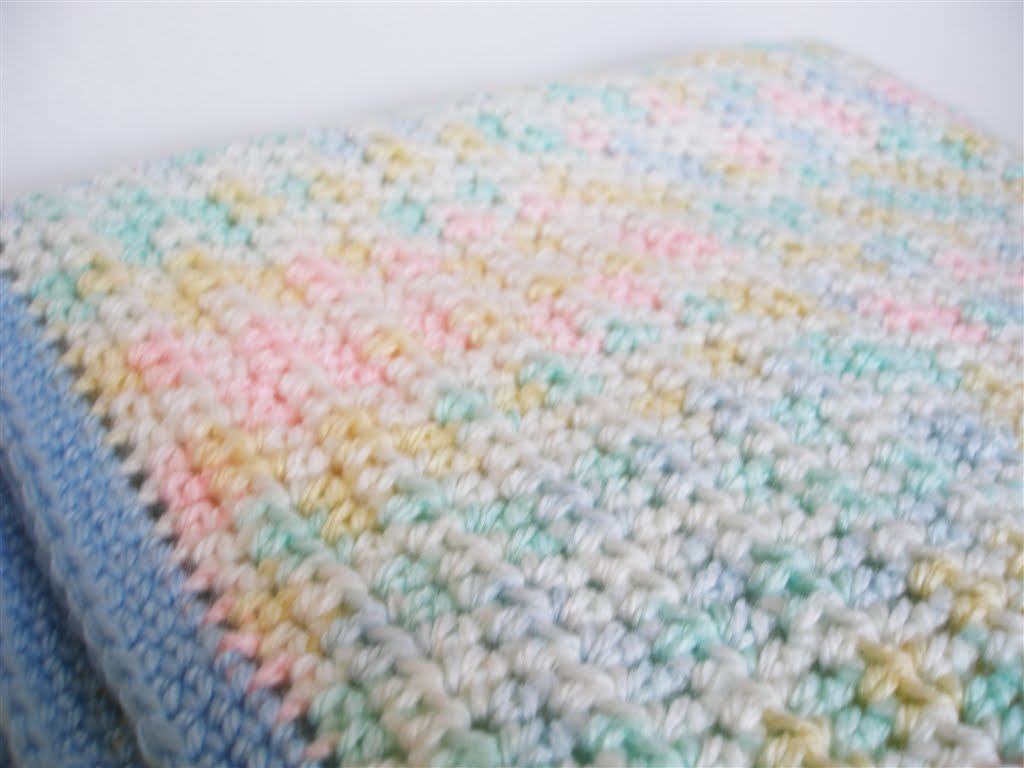 Crocheting Blind: Crochet Project: Car Seat Blanket