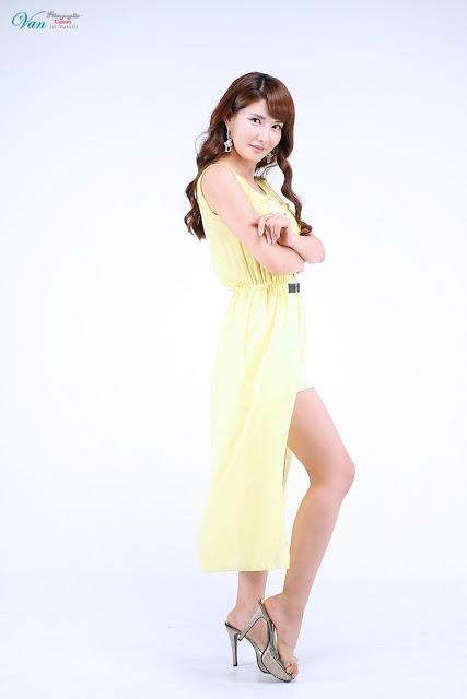 5 Cha Sun Hwa in Yellow-Very cute asian girl - girlcute4u.blogspot.com