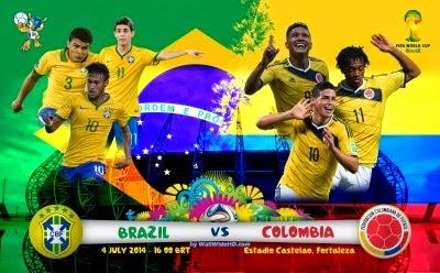 Hasil Piala Dunia babak 16 besar: Brazil Dan Kolumbia Maju diPerempat Final 5 Juli 2014