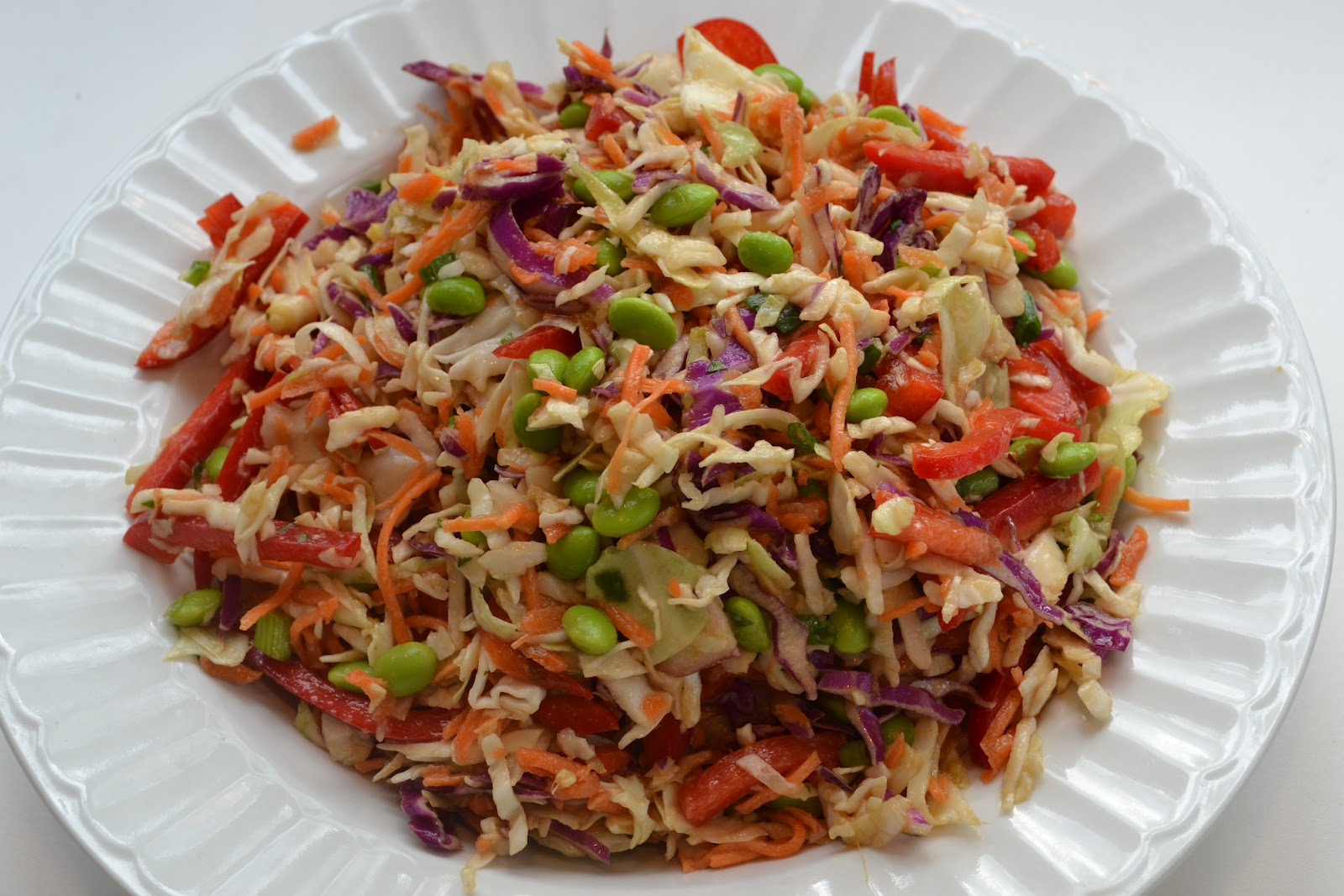 Asian Slaw With Ginger Peanut Dressing Recipe — Dishmaps