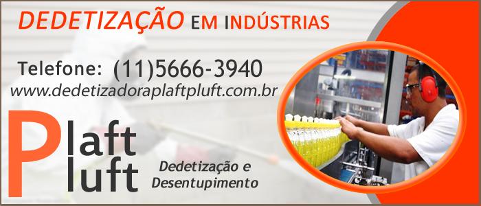 Dedetização em Industrias São Paulo 24 Horas - Dedetizadora Plaft Pluft