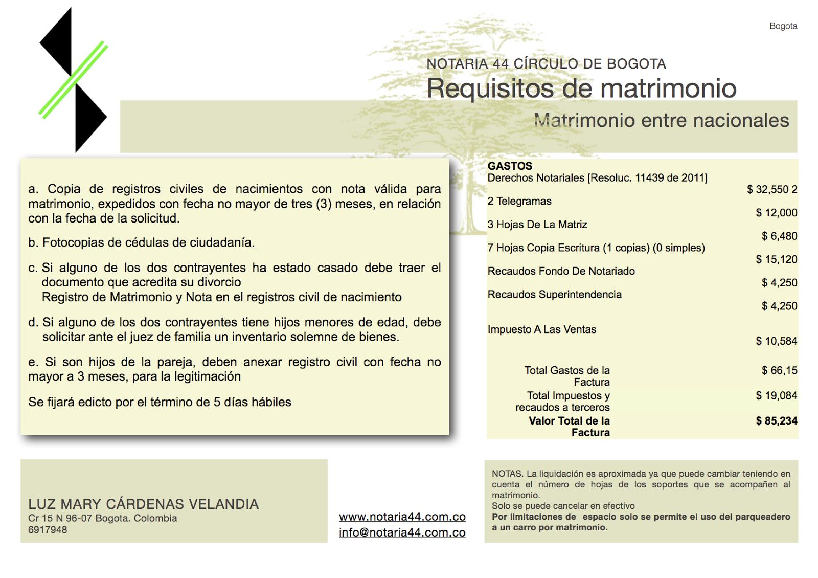 Requisitos de matrimonio entre nacionales - Requisitos para casarse ...