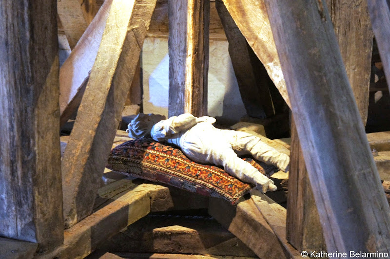 Egeskov Slot Wooden Man in the Attic Denmark